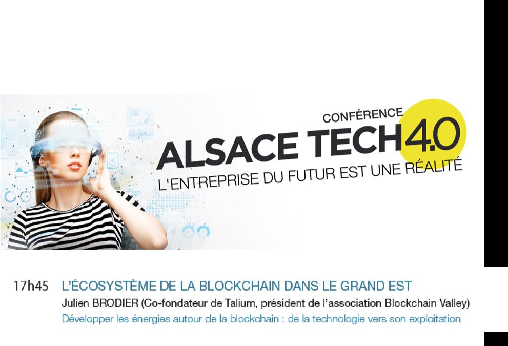 Conférence : les applications industrielles de la blockchain