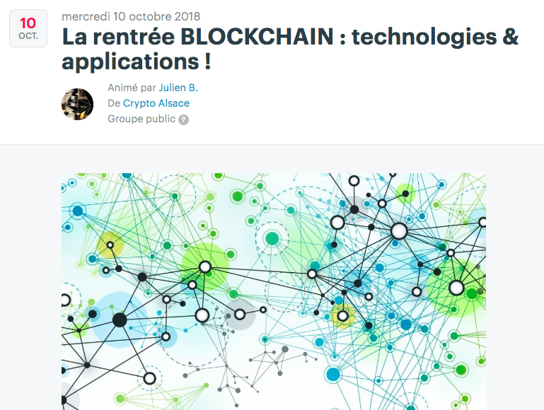 MEET UP « La Rentrée Blockchain » le 10 octobre