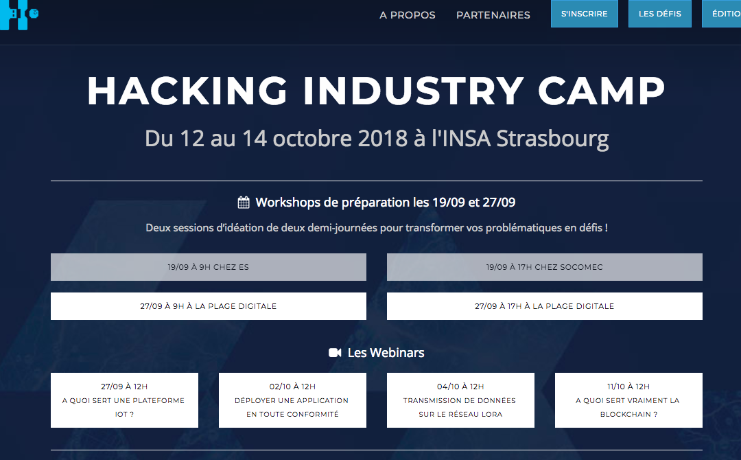 Hacking Industry Camp du 12 au 14 octobre